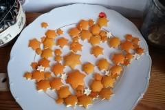 Hvězdičky z pomerančové kůry